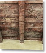 Rustic Wood Beams Metal Print