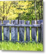 Rustic Wooden Fence At Old World Wisconsin Metal Print