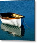 Rustic Wooden Row Boat. Metal Print
