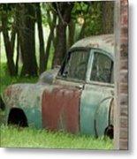 Rustmobile And Shack Metal Print