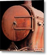 Rusty Abandoned Steam Locomotive Metal Print
