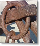 Rusty Anchor Chain Metal Print
