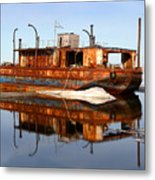 Rusty Barge Metal Print