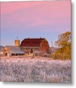 Rusty Barn At Dawn Metal Print