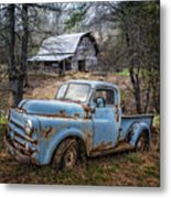 Rusty Blue Dodge Metal Print