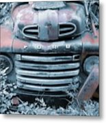 Rusty Blue Ford Metal Print