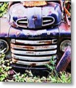Rusty Blue Metal Print