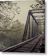 Rusty Bridge Metal Print by William Schmid