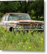 Rusty But Still Standing In Texas Metal Print