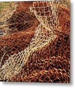 Rusty Chain Link Metal Print