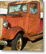 Rusty Chevrolet Pickup Truck 1934 Metal Print