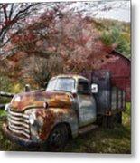Rusty Chevy Pickup Truck Metal Print