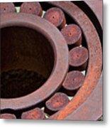 Rusty Circles Metal Print