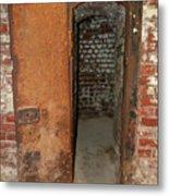 Rusty Door At Ohio Prison Metal Print