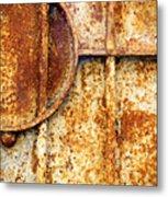 Rusty Gate Detail Metal Print