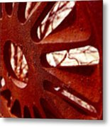 Rusty Gear Metal Print