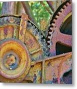 Rusty Gears Metal Print