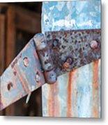 Rusty Hinge Metal Print