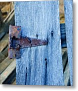 Rusty Hinge In The Blue Of The Evening Metal Print