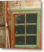 Rusty Lighthouse Window Metal Print