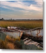 Rusty Lowcountry Boats Metal Print