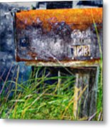 Rusty Mailbox Metal Print