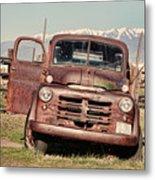 Rusty Old Dodge Metal Print