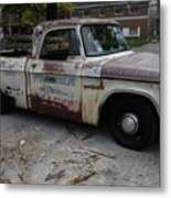 Rusty Old Dodge Metal Print