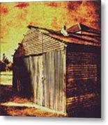 Rusty Outback Australia Shed Metal Print