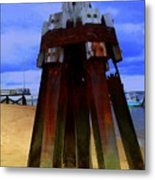 Rusty Pillars Metal Print