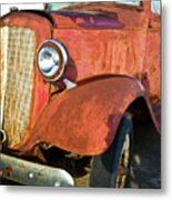 Rusty Red Chevrolet Pickup Truck 1934 Metal Print