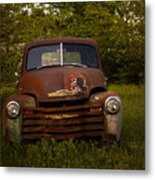 Rusty Red Chevy Metal Print