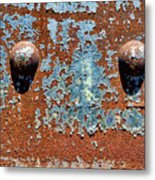 Rusty Rivets Metal Print