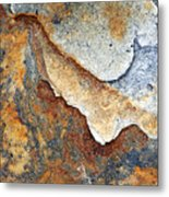 Rusty Rock Colours Metal Print