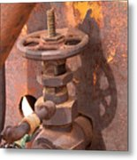 Rusty Sample Valve Metal Print