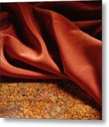 Rusty Silk Metal Print