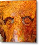 Rusty The Lion Metal Print