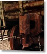Rusty Train Back Metal Print