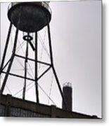 Rusty Water Tower Metal Print