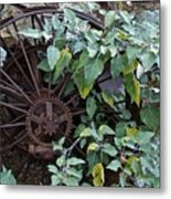 Rusty Wheel Metal Print