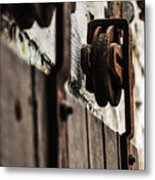 Rusty Wheel Metal Print