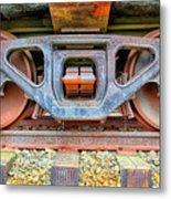 Rusty Wheels Metal Print