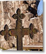 Rya Chapel Grave Marker Metal Print