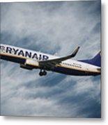 Ryanair Boeing 737 Metal Print