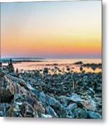 Rye, New Hampshire Sunrise Cairns Metal Print