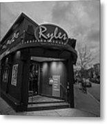 Ryles Jazz Club Cambridge Ma Inman Square Hampshire Street Black And White Metal Print