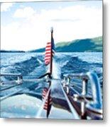 Ryp'd View Of Lake George, Ny Metal Print
