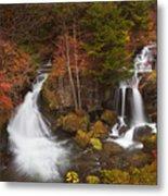 Ryuzu Falls Near Nikko In Japan In Autumn Metal Print