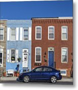 S Baltimore Row Homes - Wide Metal Print