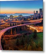 S For Seattle Metal Print